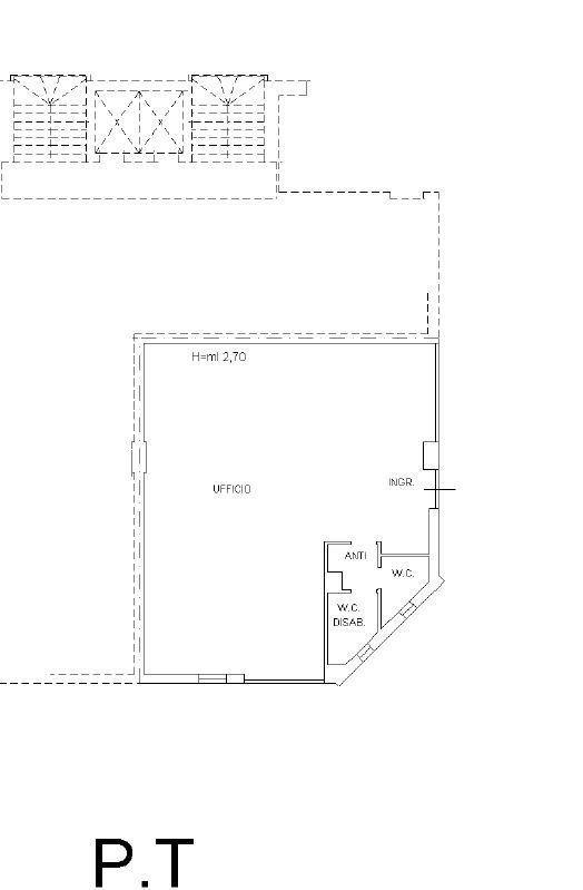 Baraccola ottimo ufficio piano terreno mq 110 con parcheggio e n 2 posti auto coperti